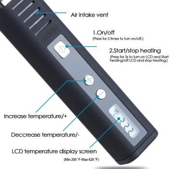 Vaporiser schwarze degree temp.LCD, 5V/0,5A steele