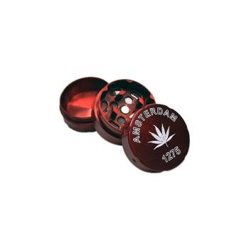 Grinder 30mm 3tl. metall mit Blatt farb. sort ve-24