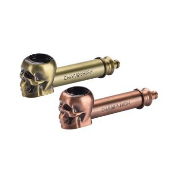 Metal Skull Pipe in 2 Farben 8,5 cm  VE 12 Stk