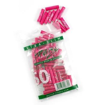 Purize Aktivkohlefilter Xtra Slim Pink ø 5,9mm 50er Beutel
