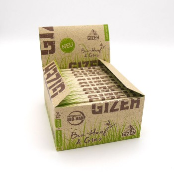 Gizeh Hanf+Gras King Size SLIM + Tips 24er Box