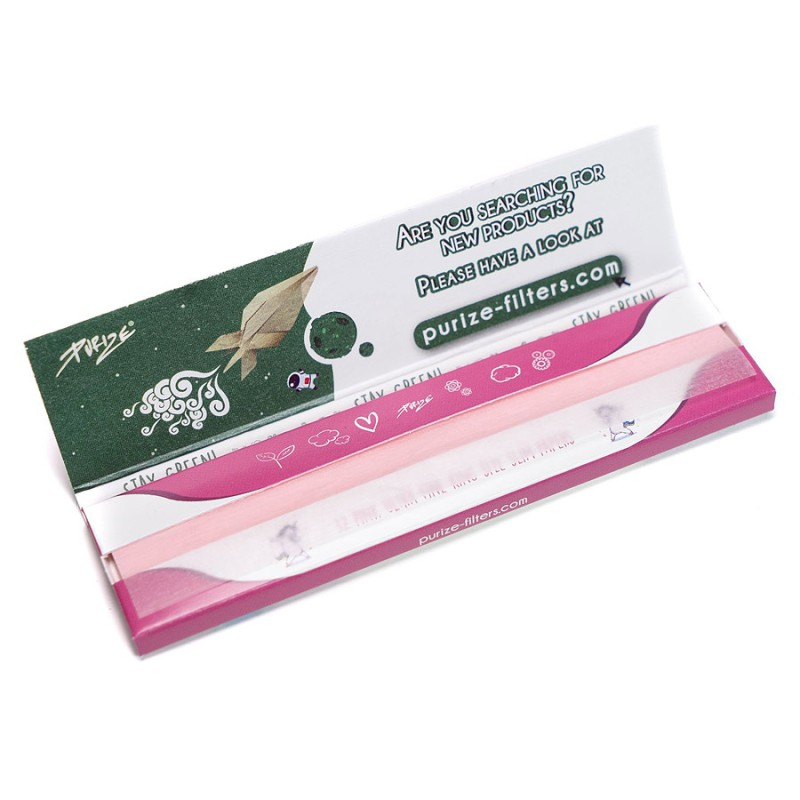 Purize Paper King Size Slim Pink VE40 a 32 Blatt