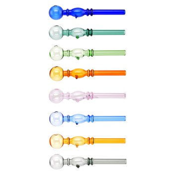 Glas Pfeife in 8 Farben Sortiert ca. 11,5cm VE 24